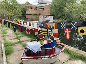 Authentic Wovenmagic Nautical Code Bunting 40 Flags - Sewn Cotton Banner