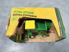 Vintage John Deere Chain Drive Metal Reel 6600 Combine New in Box RARE! Ertl