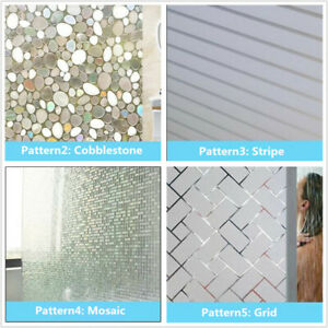 3D Frosted Privacy Window Glass Film Sticker Static Cling Anti UV Non-adhesive