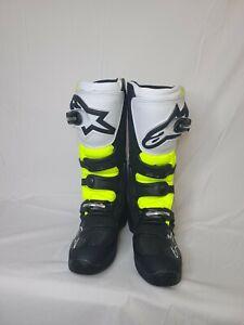 Alpinestars Tech 5 Boot (SZ 07, Black/White/Red/Yellow)