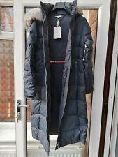 BNWT Womens Tommy Hilfiger New Tyra Down Maxi Parka Coat L XL Blue rrp£270