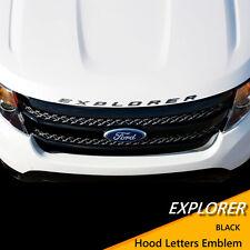 2011- 2017 Ford Explorer Sport Dark Gray Hood Letters Emblem- Gloss Finish