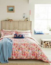 Joules Home Hollyhock Meadow Duvet Cover - PINK FLORAL MULTI Size Double