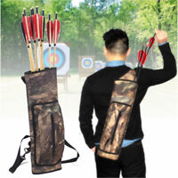 Archery Back Quiver Shoulder Belt Bag Arrow Bow Holder Pouch for Outdoor  U1