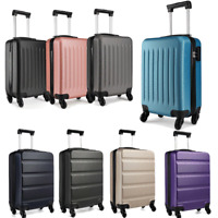 Small Cabin Hand Luggage Hard Suitcase Ryanair 4 Wheeled ABS Travel Case Bag