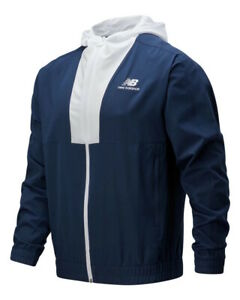 New Balance Giacca Sportiva Athletics Full Zip Windbreaker Uomo Blu