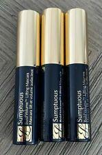 NEW 3x Estee Lauder SUMPTUOUS Bold Volume Lifting Mascara #01 BLACK .1 oz 2.8 ml