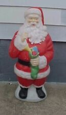 "42"" Santa Claus Christmas Stocking Lighted Vintage blow mold"