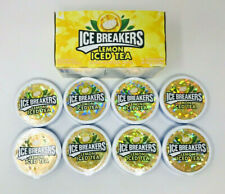 8 Pack Lemon Iced Tea Icebreakers Mints Candy Ice Breakers Lot 6/21