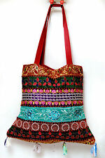 Pristine Jaipur Tote with Antique Zari Embroidery and Tassels