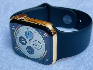 Custom 24k Gold Plated 44mm Apple Watch Series 5 Stainless Steel
