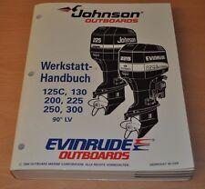 Johnson EVINRUDE EO 90° LV 125- 300 PS 1994 Außenbordmotor Werkstatthandbuch OMC