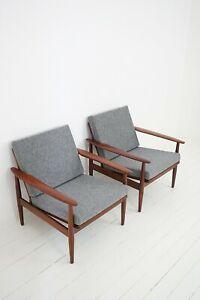 50er 60er Teak Easy Chair Danish Design Sessel Mid Century Modern Armchair 60s