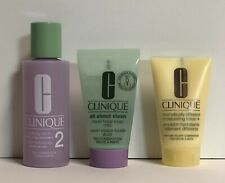 Clinique 3-pc Cleansing Travel Size 3-Step Facial Soap Clarifying & Dd Lotion