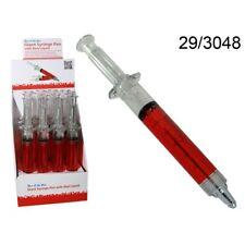 Ballpoint Pen Syringe Jumbo with Red Liquid, Giant Syringe Pen, Novelty Gift NEW