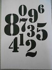 Schablone Zahlen5 auf A4