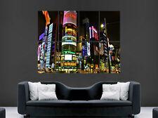 Tokyo Neón Luces Brillantes ciudad cartel Impresión De Pared Gigante pantallas LED Japón