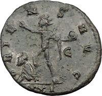 Aurelian 274AD Silvered Ancient Roman Coin Nude Sol Sun God w globe  i31539