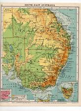 Antique Map Of South East Australia George Philip & Sons C1930