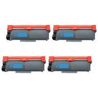 Set of 4 TN660 Toner TN630 Black Laser Ink Cartridges for Brother DCP-L2520DW