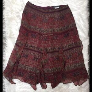 Peruvian Connection silk print skirt 2