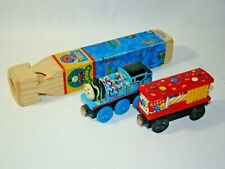 B28 Happy Birthday Thomas & Box Car Wood Train Set and Whistle