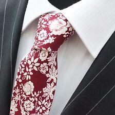 Tie CRAVATTA SLIM vino di qualità Rosso Cotone T6083