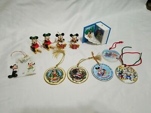 Lot of 11 Disney Mickey Mouse Christmas ornaments