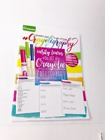 Crayola Beginner's Guide To Hand-Lettering Calligraphy Crayoligraphy Color Adult