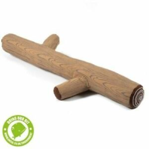 Ancol 100% Recycled Squeaky Dog Puppy Toy Plush Stick Branch Fetch, Tug, Cuddle