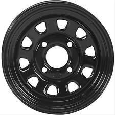 ITP Delta Steel 12x7 4x110mm Steel 2-piece Black Gloss Each Wheel 1225553014