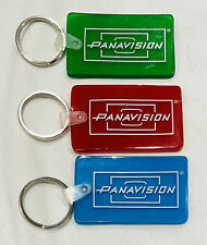 NEW Original Panavision 3 Key Chains Red Blue Green