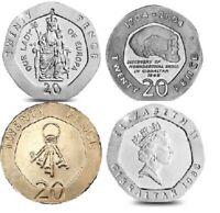 20p GIBRALTAR COINS LADY OF EUROPA NEANDATHAL SKULL KEYS TWENTY PENCE 1988-2013