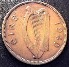 RAREST 1940 Irish Penny 1d Hen+Chicks Ireland Coin 312k Key Date Pre Decimal