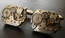 HIGH QUALITY WATCH SKELETON CUFF LINKS Men's Birthday/Anniversary Collector Gift