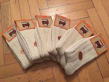 Naturel Turkish Wool UNPAINTED Cream Hiking Women Socks- 6 Pairs Pack *Winter*