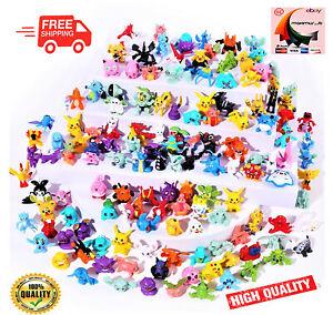 Whole Sale 24-144 pcs Pokemon Mini PVC Action Figures pikachu Toys Kids Gift New