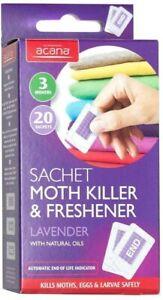 Acana Moth Killer & Freshener 20 Sachets Lavender Fabric Protector