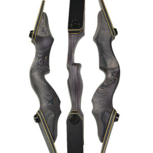 15'' Recurve Bow Riser Wooden Handle Right Left Hand Outdoor Hunting Shooting