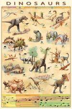 Dinosaurs Species Jurassic Age Timeline Maxi Poster 61 x 91,5 cm