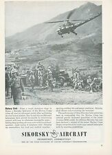 1951 Sikorsky Aircraft Helicopter Ad Marines in Korea Korean War Cold War