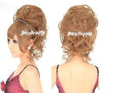 Haarteil Zopf  Dutt gelockt halb Perücke Haarverlängerung  Neu