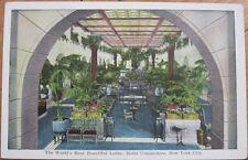 1920 Postcard: Hotel Commodore Lobby- New York City, Ny