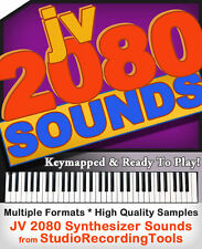 Roland Jv 2080 Synth Sample Reason Refill Exs24 Akai akp Soundfont Wav Sound DVD