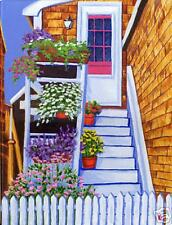 ROCKPORT Flowers Staircase Daisies Matted Print, Rutana