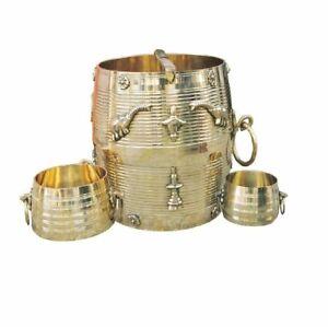 Brass Para Set Nazhi Changazhi Vase Stand Pot Gold Garden Ornament vase New Gift