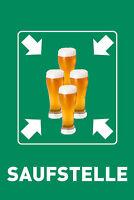 Saufstelle Bier Blechschild Schild gewölbt Metal Tin Sign 20 x 30 cm W1042