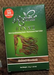 Reshma HENNA Rich conditioning Semi - Permanent Hair Color - Natural Chestnut