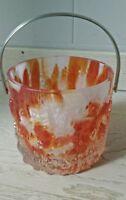 seau a glace vintage verre ICEBERG  bucket Glass 70's