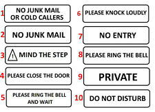 No Mail Junk Sticker Sign Door Leaflets Menus Box Letter Flyers Letterbox Sales